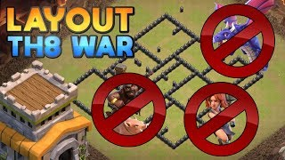 NOVO LAYOUT CV8 PARA GUERRA ANTI 3 ESTRELAS 2019 (NEW TH8 WAR BASE ANTI 3 STARS 2019)