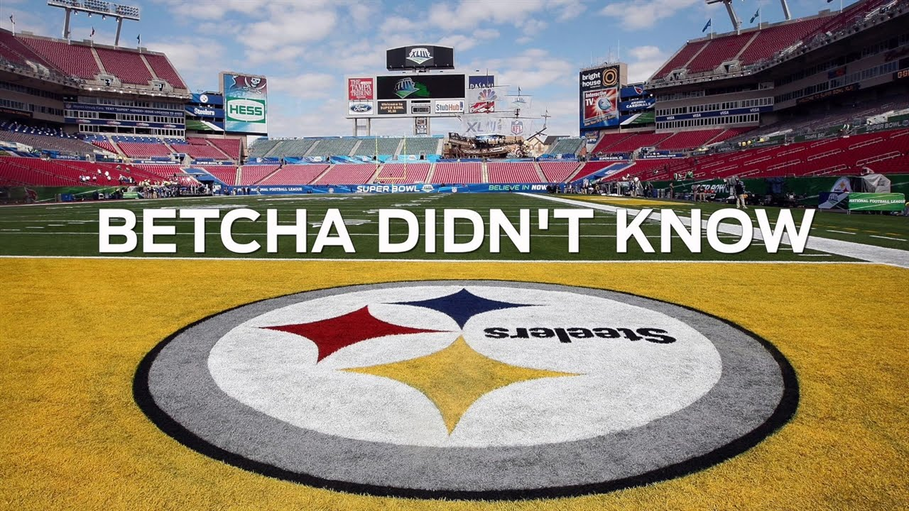 20bdccbe5 Why is the Pittsburgh Steelers Logo Only on One Side  - Betcha Didn t Know  - YouTube