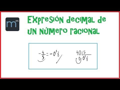 Expresion Decimal De Un Numero Racional Youtube