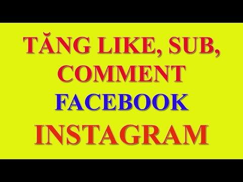 Hướng dẫn tăng like facebook  và instagram mới nhất