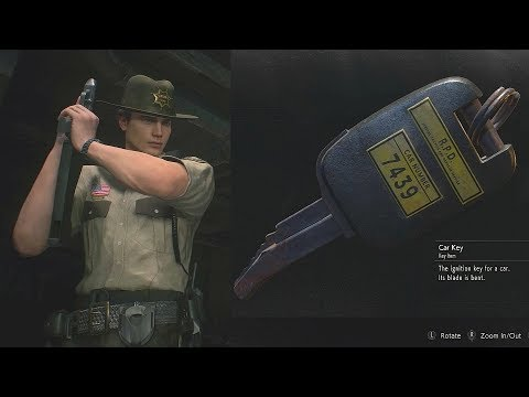 Resident Evil 2 Remake Patrol Car Key 7439 Matilda Gun Stock Leon Rick Outfit