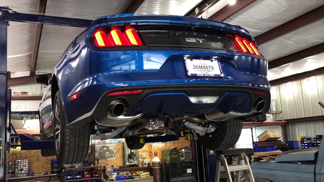 2017 Mustang Gt With X Pipe And Electric Cutouts