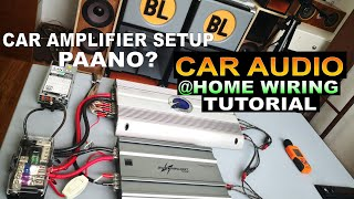 CAR AUDIO SETUP @ HOME PAANO? CAR AMPLIFIER WIRING TUTORIAL WITH 750W & 2400W DELL PSU & 2 AMPLIFIER