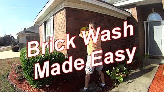Pressure Wash - A Basic House Wash with a Cool Brick Washing Trick