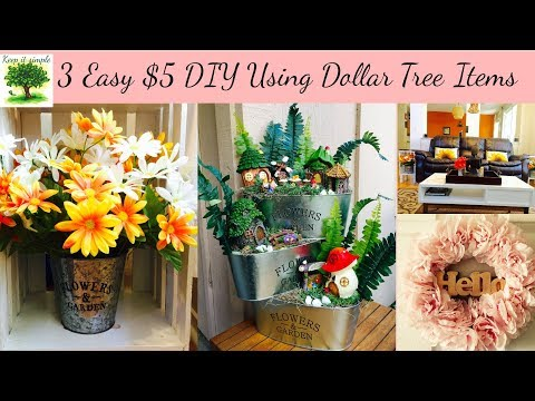Dollar Tree DIY | 3 Very Easy DIYs | Takes only 5 min and costs only $5