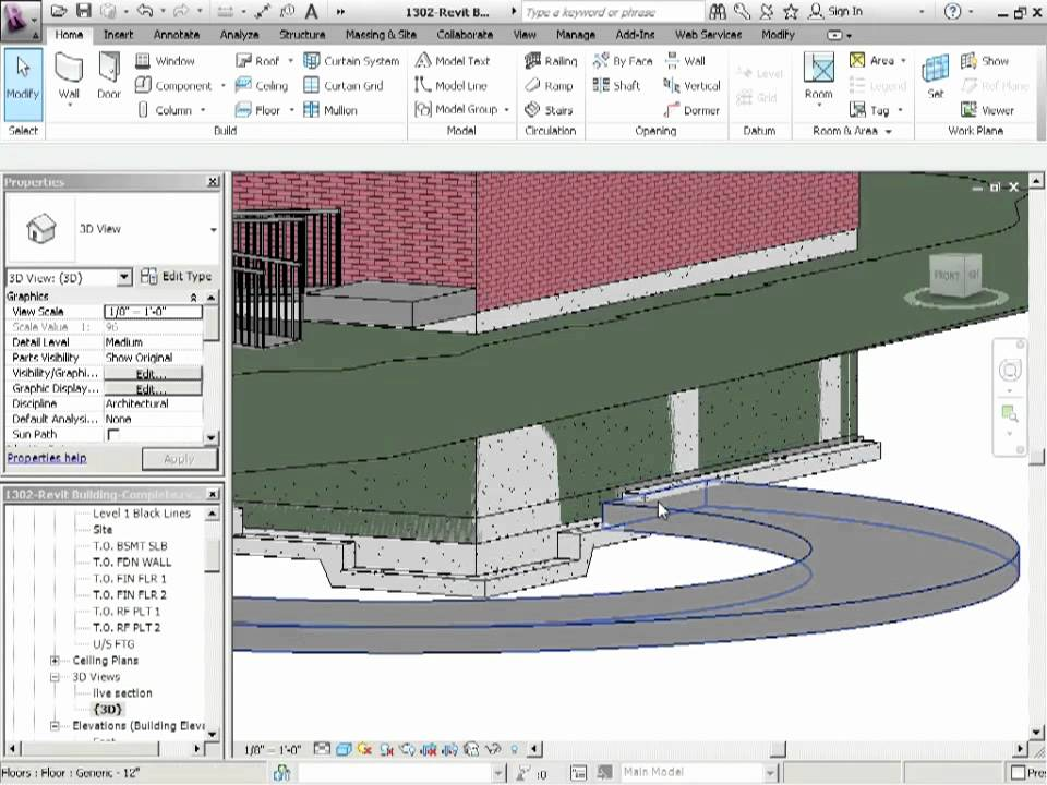 Advanced Revit Architecture 2012 Tutorial Parking Garage Ramps Using Floors Youtube