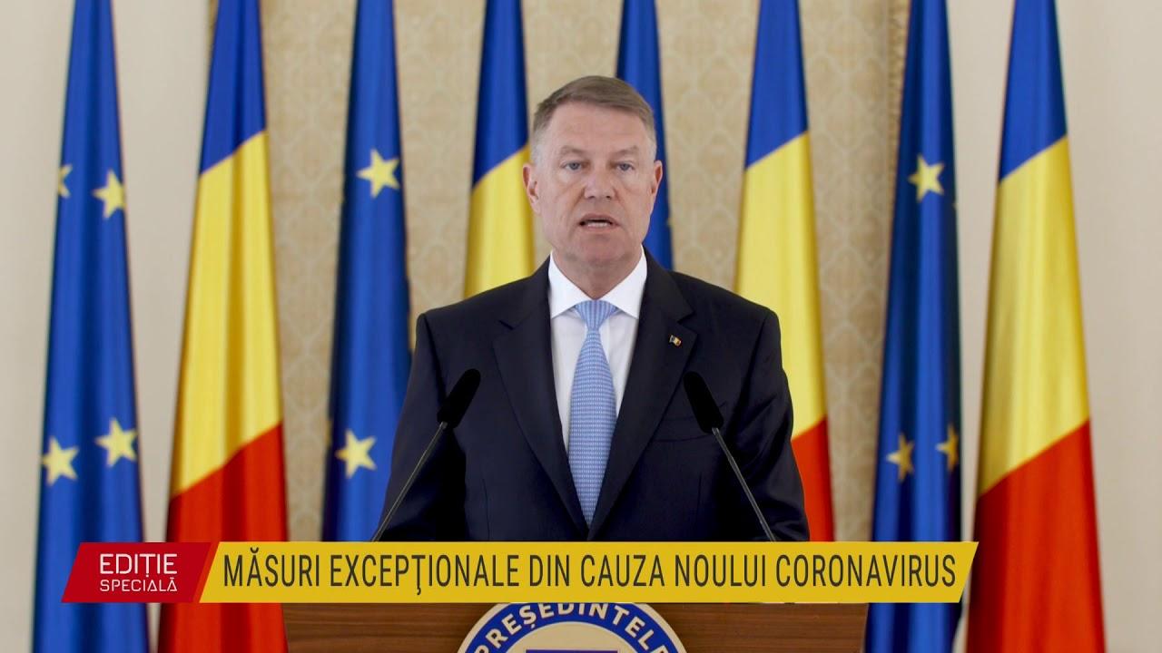 Declaraţii Klaus Iohannis - decretul privind instaurarea stării de urgență