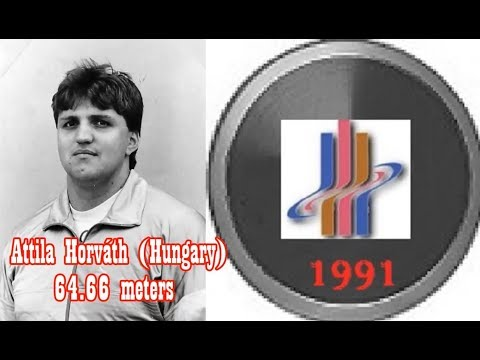 Attila Horváth (Hungary) DISCUS 64.66 Meters 1991 World Championships