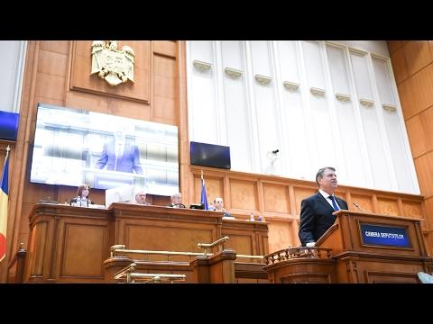 Mesajul adresat Parlamentului României de Klaus Iohannis, marți