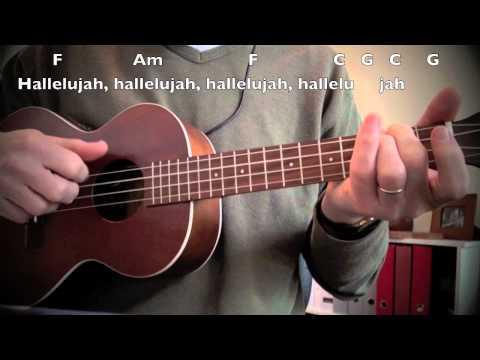 Hallelujah cover, Ukulele with Chords, Lyrics