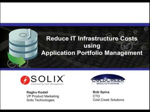 Reduce IT infrastructure costs using Application Portfolio Management