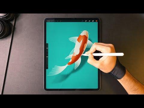 Drawing a Koi Fish on the iPad Pro