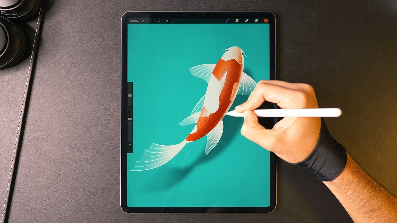 Drawing a Koi Fish on the iPad Pro
