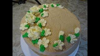 Бисквитный торт  с желейной персиковой прослойкой и Крем взбитые сливки   // Нежный и Вкусный...