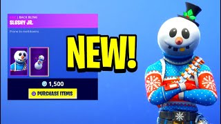 "*NEW* ""SLUSHY SOLDIER"" Skin + ""ICICLE"" Pickaxe! - Fortnite Daily Item Shop [December 13] Snowman ⛄️"