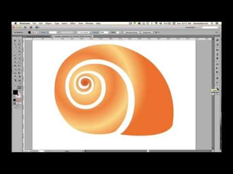 Draw A Vector Shell With The Pen Tool In Adobe Illustrator