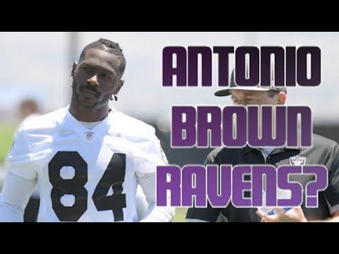 Antonio Brown Making Push To Join Lamar Jackson, Ravens?