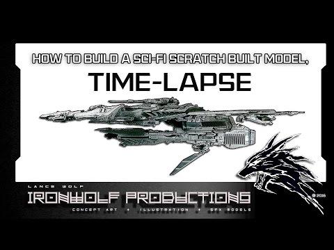 How to Build a Sci-Fi Scratchbuilt Model, Time-Lapse