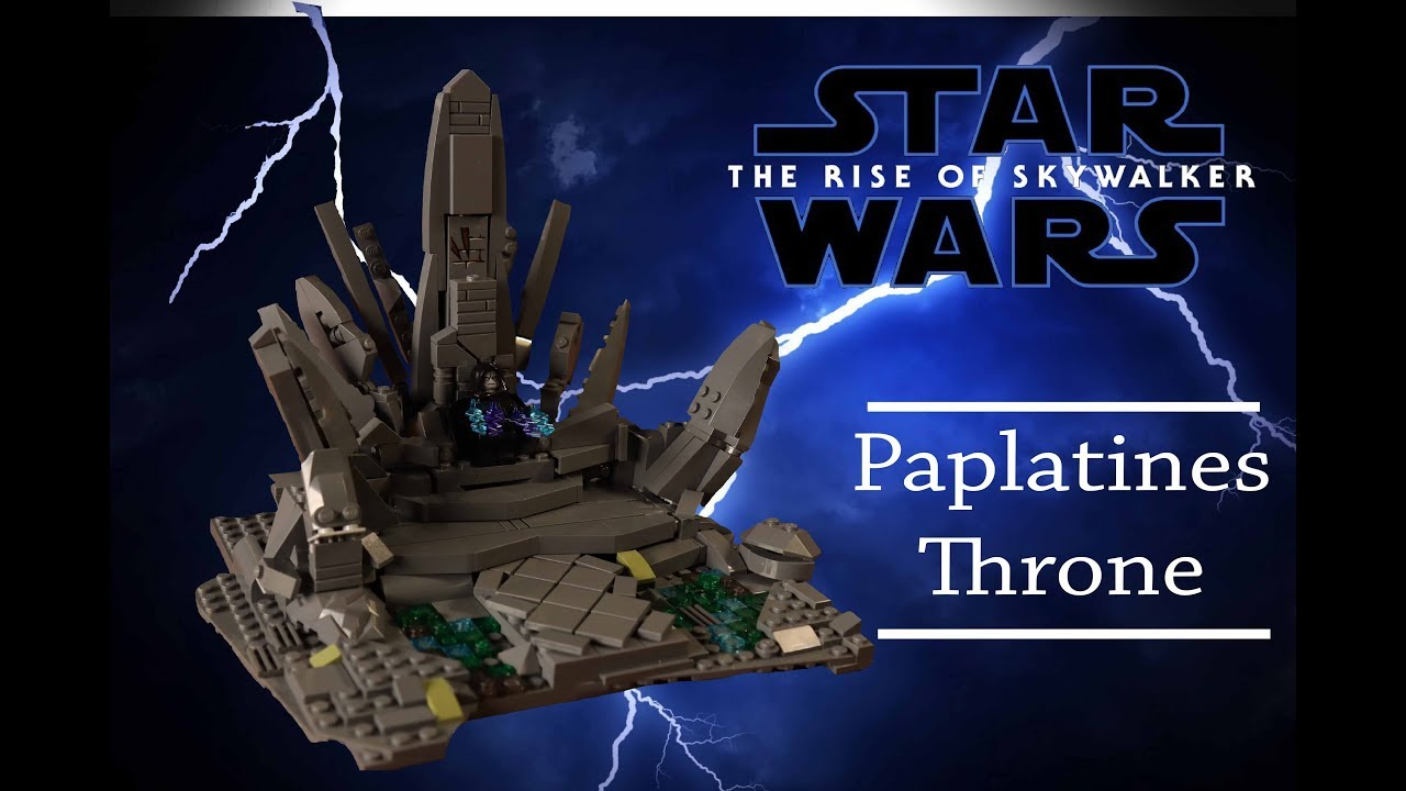 Lego Star Wars The Rise Of Skywalker Paplatine Throne On Exegol Moc Youtube