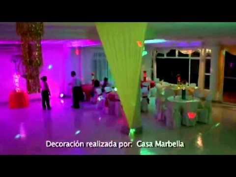 Casa marbella decoraci n 15 a os ne n youtube for Decoracion de 15 anos en casa