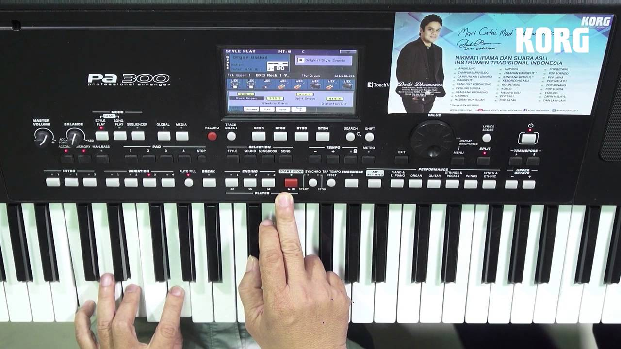 Korg Pa300 New Indonesian Version Review By Agus Julianto Part 2 Youtube