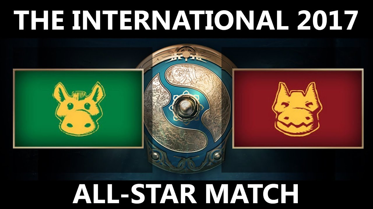 dota 2 live the international 2017 all star match youtube