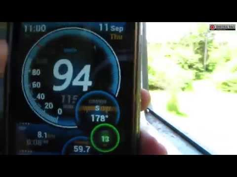 Konkan Railway DEMU 0-30-99kph Acceleration