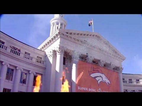 Denver Broncos Official Super Bowl 50 Parade through Denver!!!