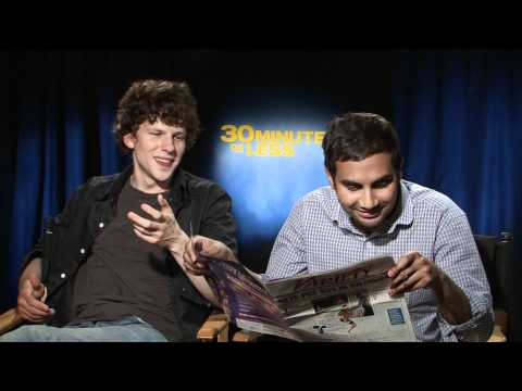 "Talking ""30 Minutes or Less"" With Jesse Eisenberg & Aziz Ansari"