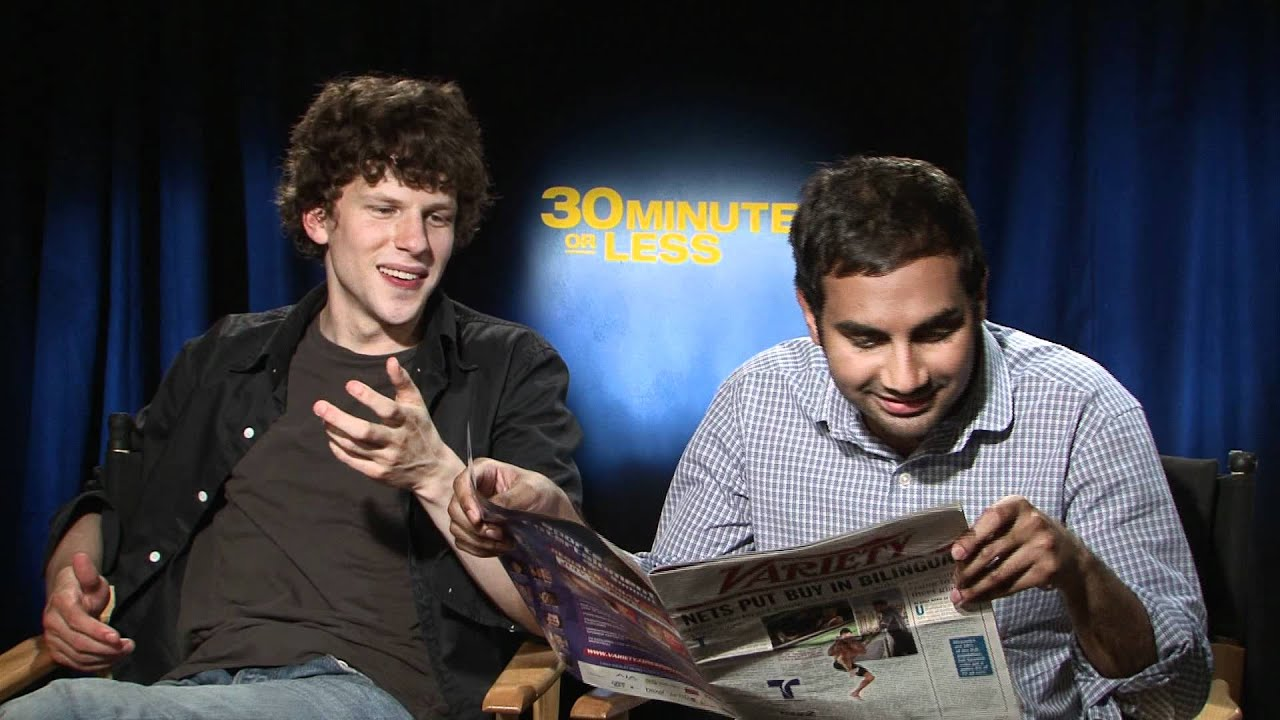 "Talking ""30 Minutes or Less"" With Jesse Eisenberg & Aziz ..."