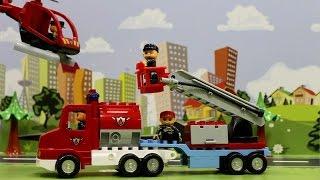Мультики про машинки - Пожарные машинки мультфильм. Строим пожарную часть. Видео для детей