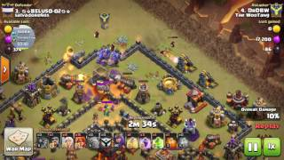6 Star TH10 War, No Barbarian King, Clash of Clans