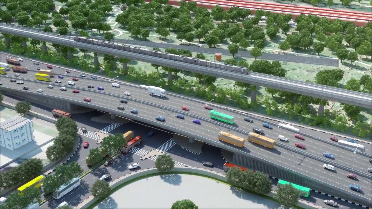 Delhi-Panipat RRTS: NCRTC's Regional Rapid Rail starts virtual run crossing  Sarai Kale Khan station - YouTube