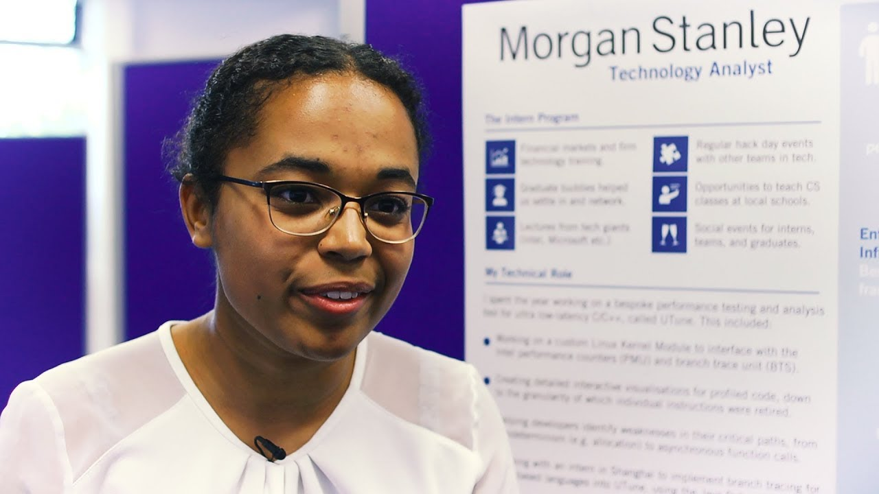 Developing new tools: Computer Science placement at Morgan Stanley