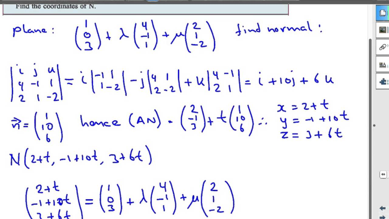 How To Find Normal Vector Of A Plane