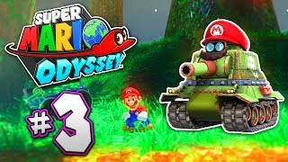 SUPER MARIO ODYSSEY Part 3 - Wooded Kingdom - TANK MARIO!