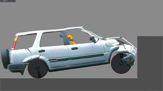 Phun Algodoo Car Destruction #11