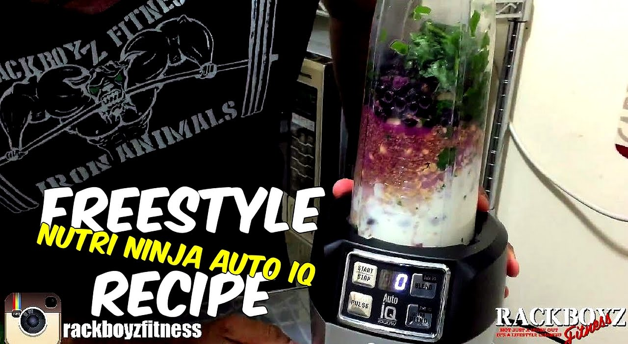 nutri ninja auto iq: freestyle smoothie recipe - youtube