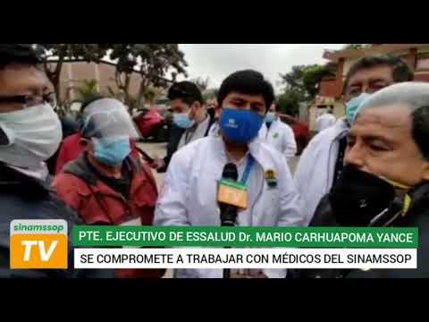 PRESIDENTE EJECUTIVO DE ESSALUD SE COMPROMETIÓ A ATANDER DEMANDAS DEL GREMIO MÉDICO