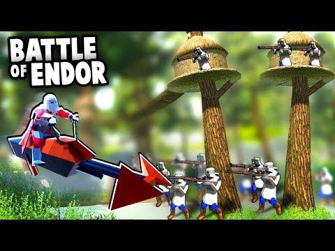 Stormtroopers vs Ewok TREE FORTS!  Battle of ENDOR! (Ravenfield Star Wars Mod Gameplay)