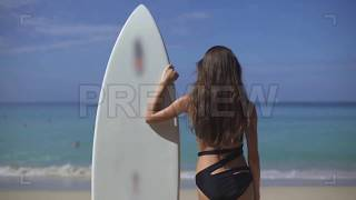 Waiting For Big Waves Stock Video