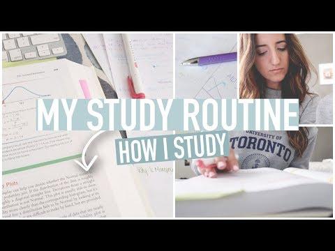 My University Study Routine