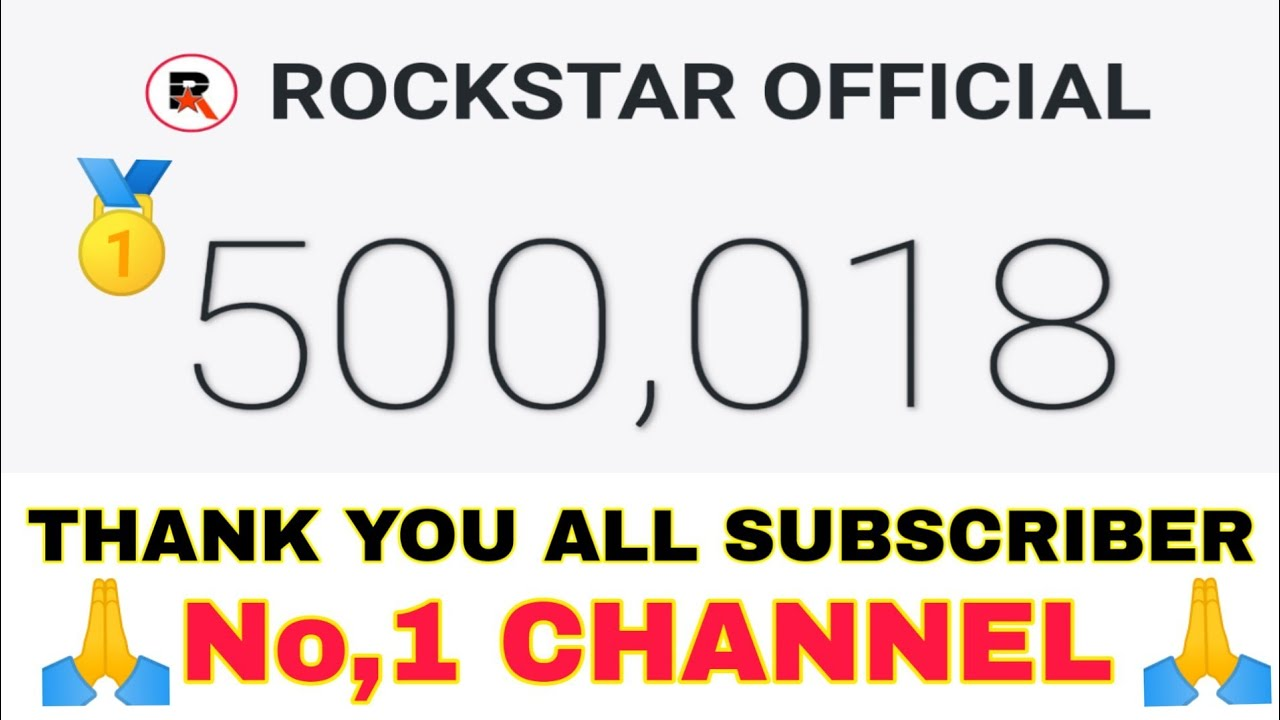 🥇500,000 SUBSCRIBERS THANK YOU ALL🎉