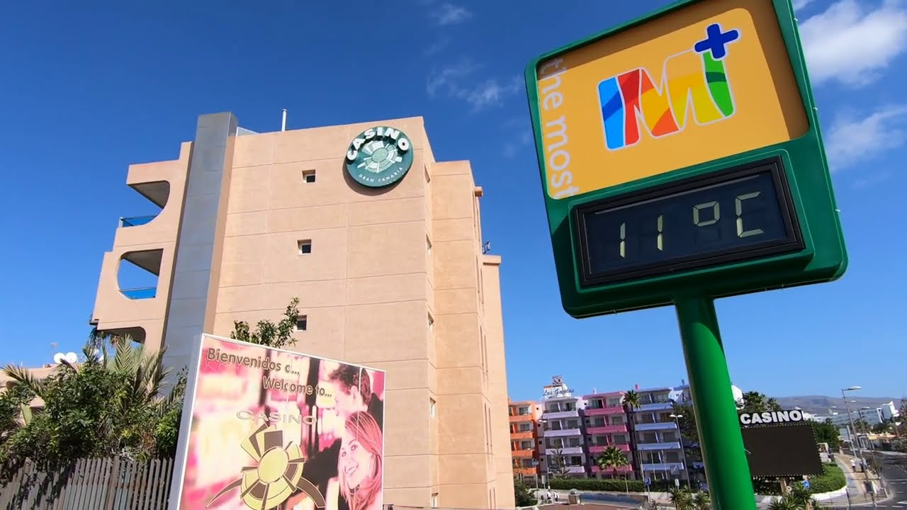 Gran Canaria Playa del Inglés Wetter Weather 03.03.21 11:00 AM 24ºC Maspalomas Costa Canaria