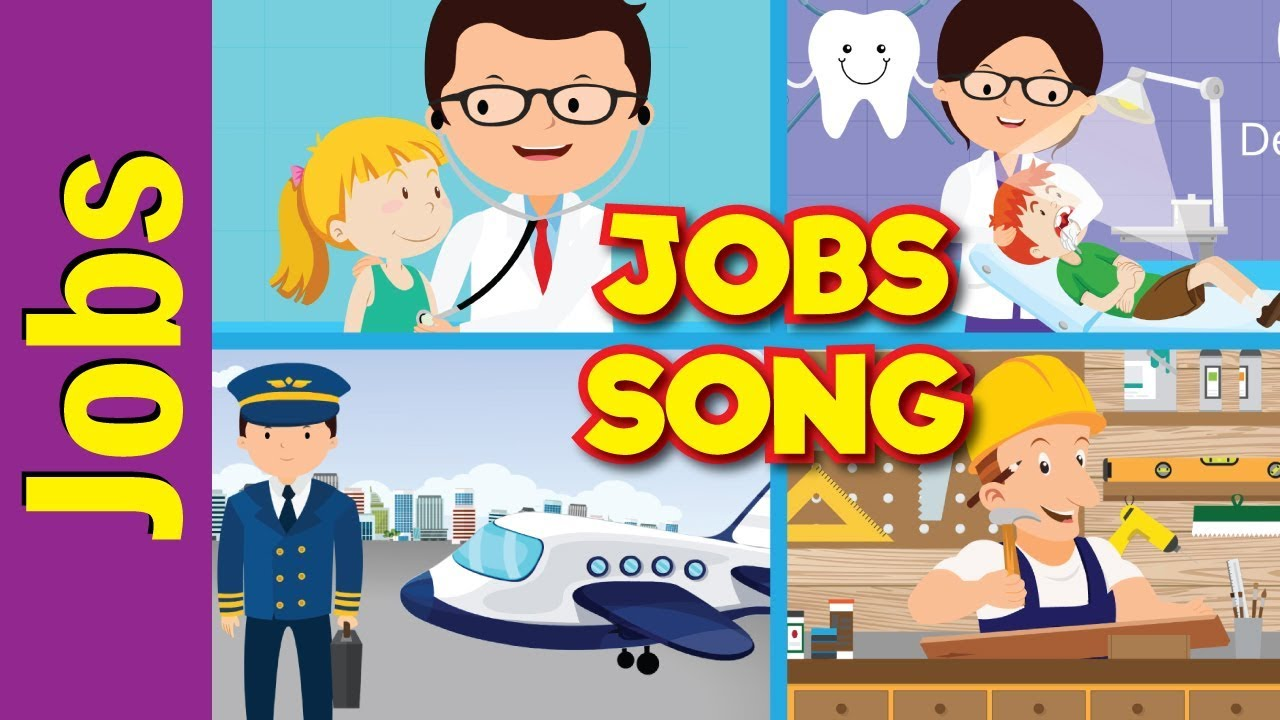 Jobs Song for Kids   What Do You Do?   Occupations   Kindergarten [ 720 x 1280 Pixel ]