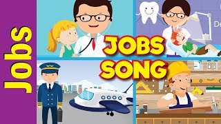 Jobs Song for Kids | What Do You Do? | Occupations | Kindergarten, Preschool, ESL | Fun Kids English
