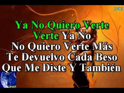 karaoke  No Quiero Verte  Lynda