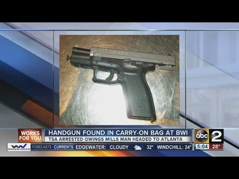 Handgun found in man's carry on at BWI