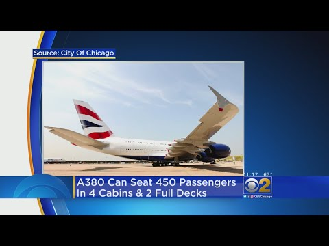 Giant Plane Lands At O'Hare