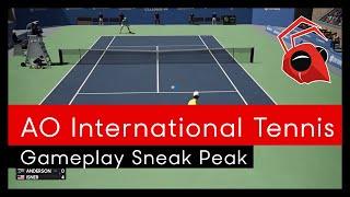 AO International Tennis: Gameplay sneak peak